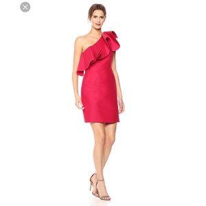 Sale Halston heritage one shoulder truffle dress